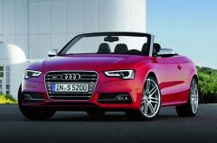 Audi S5 V6 Turbo Convertible Red Car