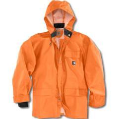 PVC rain coat with snap-on/detachable hood