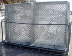 Portable Rack for Half-Bent Panel Fencing