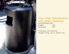 City Litter Receptacle with Side Opening