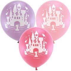 Disney Princess 1st Birthday Printed Latex Ballons