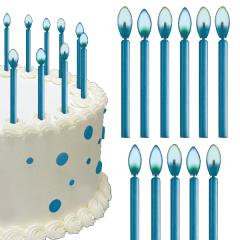 Blue Flame Birthday Cake Candles