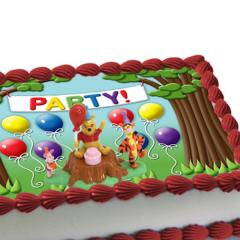 Pooh Magic Balloon Cake Kit with Edible Background