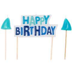 Shark Birthday Pick Candles