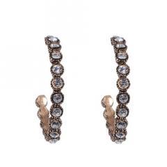 Azaara Crystal Covered Hoop Earrings