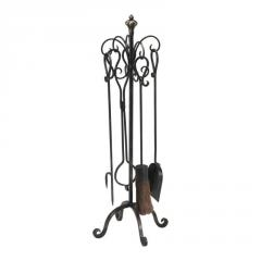 Scroll fireplace tools 4pc