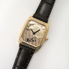 Ladies Rectangle Eagle Watch