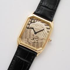 Men's Rectangle Eagle Watch