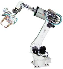 Robotic resistance welding machines