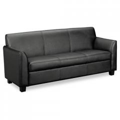 Tailored Leather Reception Three- Cushion Sofa