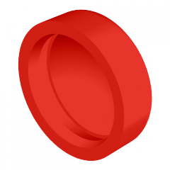 Standard Pop-On Screw Covers, Polypropylene, Red