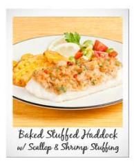 Baked Stuffed Haddock Loins
