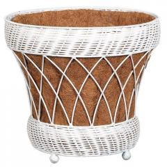 Resin Wicker Patio Planters