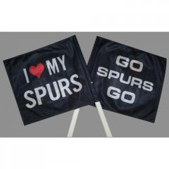 Car Flag Go Spurs Go