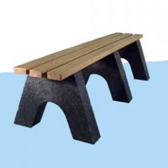Recycled Plastic Denali Backless Bench