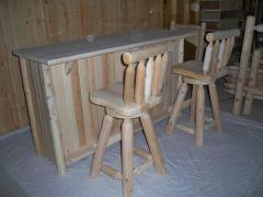 Cedar Log Bar Stools