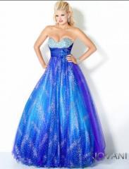 Glitter Print Ball Gown 706
