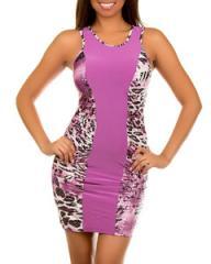 Sexy Lilac Leopard Dress