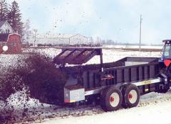 Meyer's large capacity manure spreaders