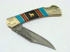 Pocket Knife Damascus Lockback UC2770