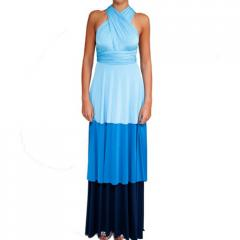 3 Tier Convertible Colorblock Gown