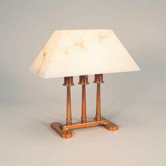 Brass and Alabaster Table Lamp