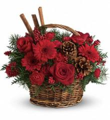 Berries and Spice Flower Basket T120-1A