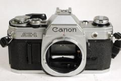 Canon AE-1 chrome camera body with guarantee/warranty