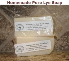 Homemade Pure Lye Soap