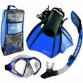 Diving Equipment 2LX 3-Piece Travel Set Medium