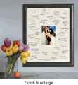 Personalized Laser Etched Wedding Wishes Signature Frame