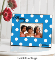 Personalized Polka Dots Picture Frame
