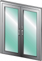 USAD 1000 - Forced Entry/Bullet/Blast Resistant Aluminum Door (Single or Double Door)