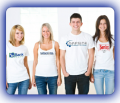 Custom Printed T-Shirts; Full-Color Screen Printing