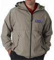 Adult Microfiber Hooded Zip-Front Jacket