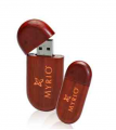 Oval Wood USB Flash Drive