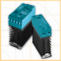 DIN Rail Single Phase Solid State Relays RV & RS Series