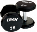 Urethane 12-sided Dumbbells