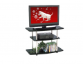 Black 3 Tier No Tools TV Stand