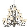 Glass Shade ID:326033 Large Chandelier