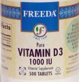 1,000 IU - 100 Tabs Vitamin D3