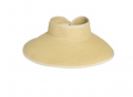 Straw Visor w/ Back Bow Over Closure Straw Hat