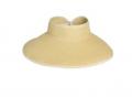 Straw Visor w/ Back Bow Over Closure Straw Hat