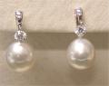 Pearl & Dancing Diamond Earrings