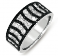 D4278BLWG White Gold Black & White Diamond Ring