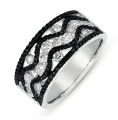 D4275BLWG White Gold Black & White Diamond Ring