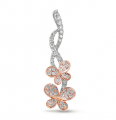P3191RW White & Rose Gold Diamond Pendant