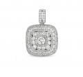 P3182WG White Gold Diamond Pendant
