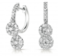 E7794WG White Gold Diamond Hoop Earring