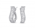 E7729WG White Gold Diamond Earring